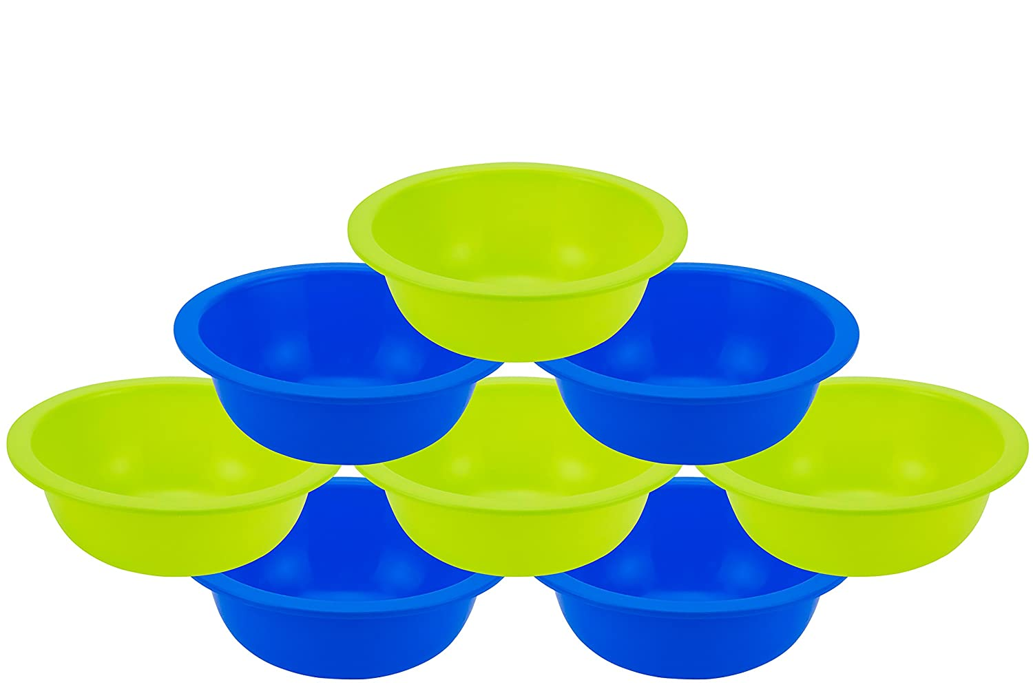 Small Serving and Mixing Bowls Fruit Blue 28 oz Set of 4 Soup Bowl for Salad Snack DecorRack Set of 4 Cereal Bowls BPA Free Plastic Dessert Shatter Proof and Unbreakable