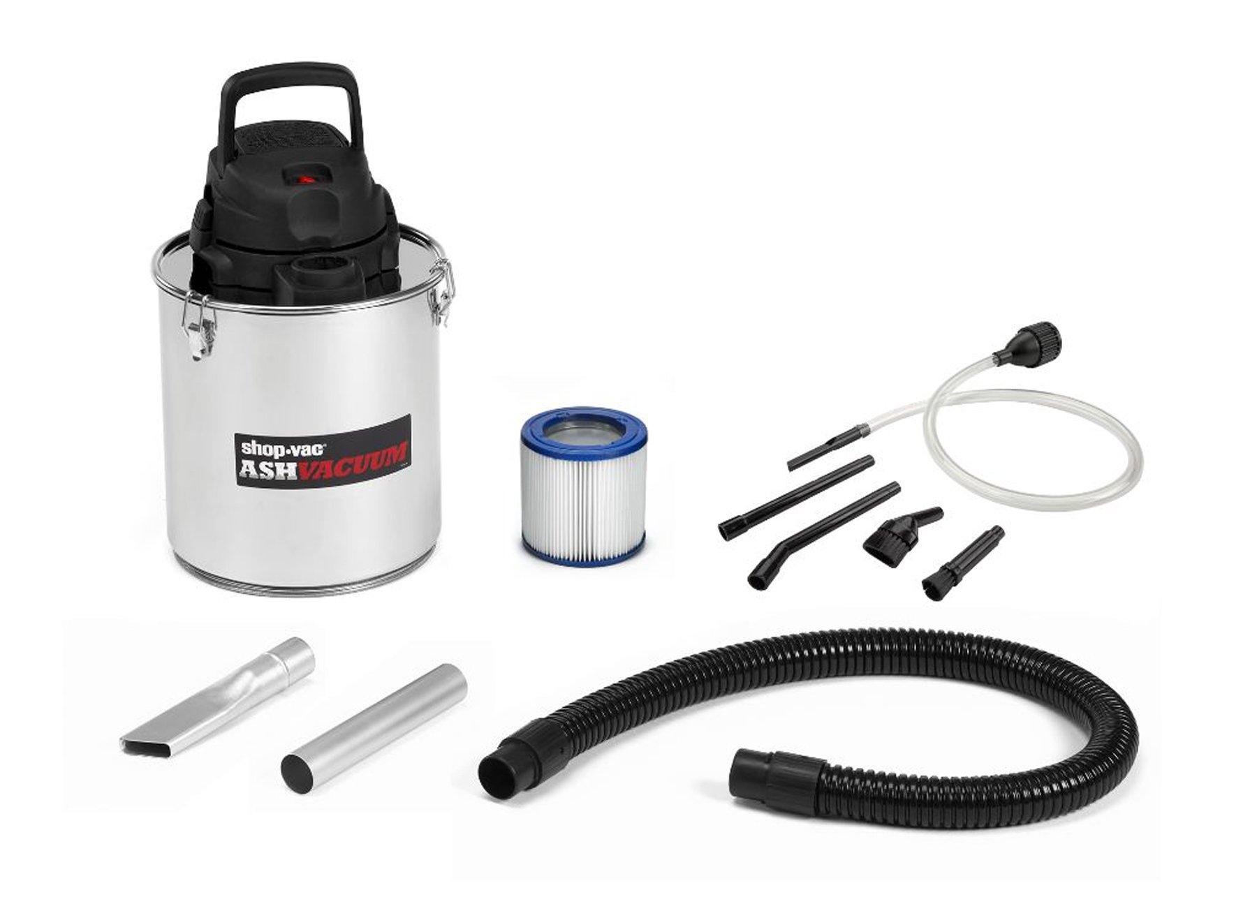 Shop-Vac 4041300 Ash Vacuuum, Stainless Steel, 5 gallon
