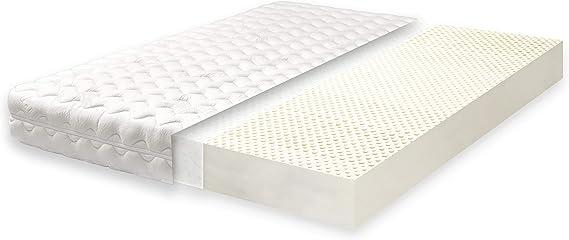 Primo Line Lux Colchón de Látex 100x200 cm Firmeza Media Altura 16 cm 7 Zonas de Soporte Ergonomico con Funda Acolchada Extraíble ÖKO-Tex®