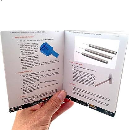EZTool Professional Watch Repair Tool Kit: Plus 41-Page Illustrated