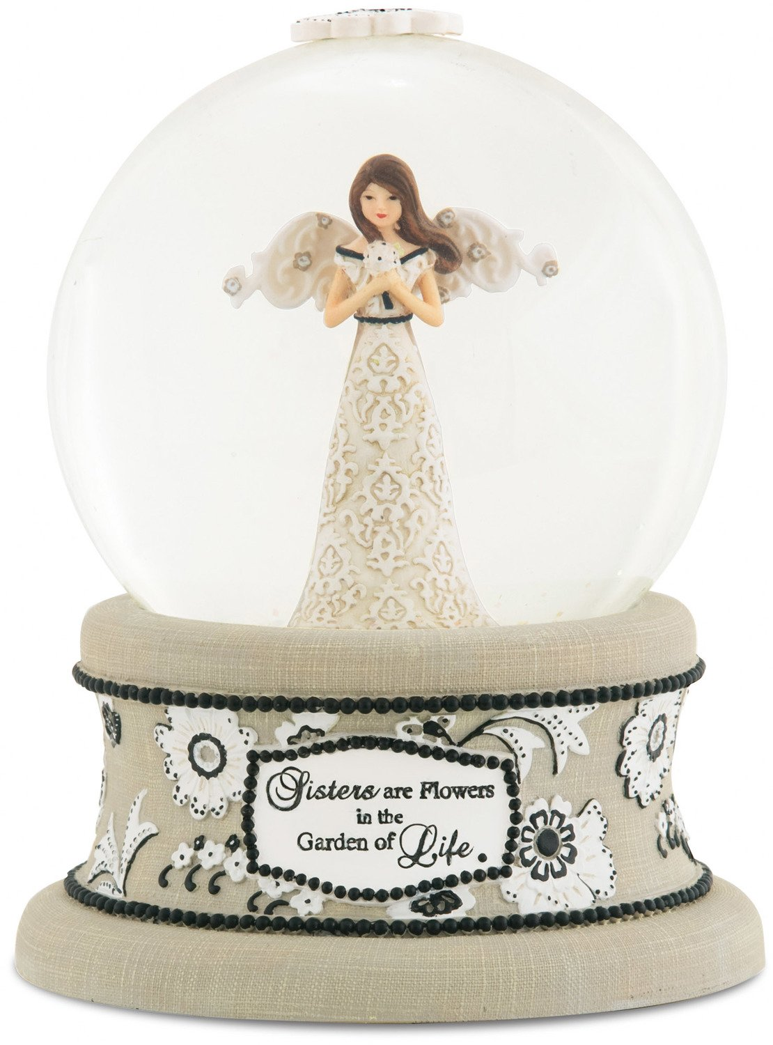 Pavilion Gift Company Modeles 88067 100mm Musical Water Globe with Angel Figurine, Sister, 6-Inch
