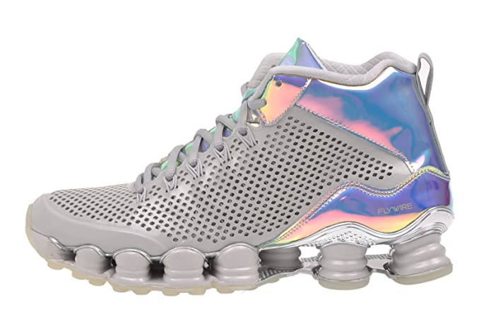 huge discount b4804 05696 NIKE Mens Shox TLX Mid SP Dusty Grey/Reflect Silver Synthetic Basketball  Shoes