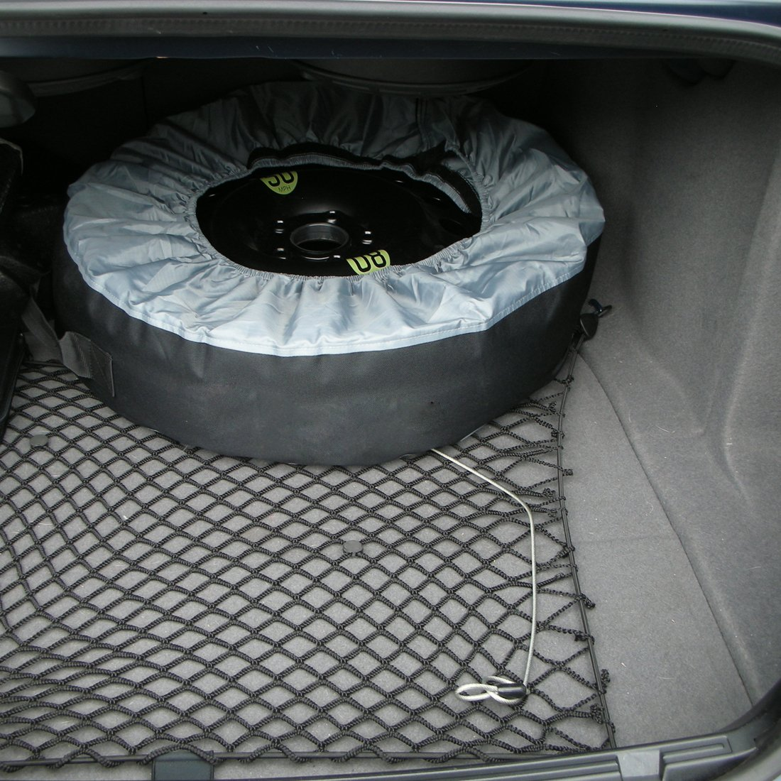 FLR Tire Tote Adjustable Waterproof Grey 30in Tire Covers Bags Seasonal Tire Storage Bag for Car Off Road Truck Tire Totes Set of 4 by FLR (Image #7)