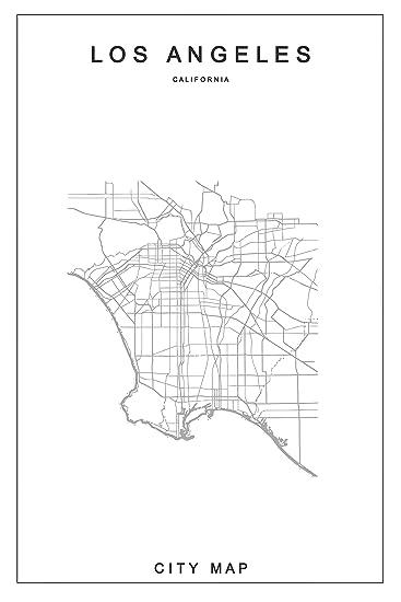 amazon los angeles city map minimalist design art print 20 X 20 Prints 3 PC image unavailable