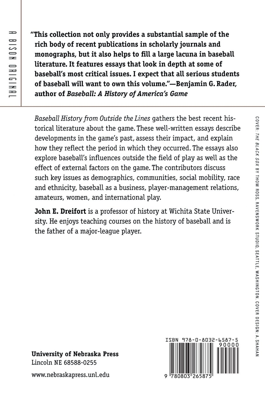 baseball history from outside the lines a reader john e baseball history from outside the lines a reader john e dreifort 9780803265875 com books
