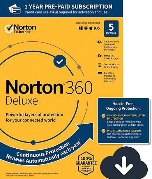 Norton Security Deluxe Antivirus 2018 Version Direct Download 1 Year 3 Device