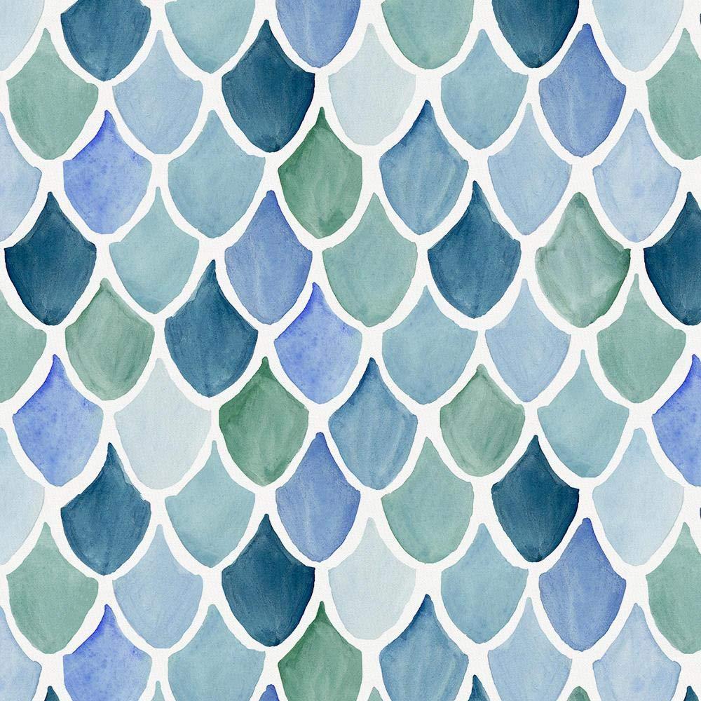Carousel Designs Blue Watercolor Scales Cradle Sheet
