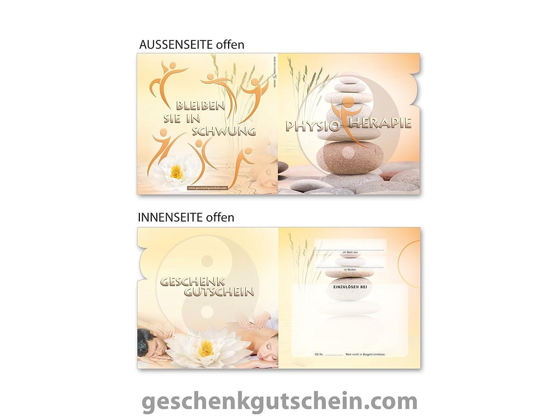 50 Stk. quadratische 4Emotion-Gutscheine MA402 für Massage, Wellness, Spa und Physiotherapie B00KKN1TWA   Vielfältiges neues Design