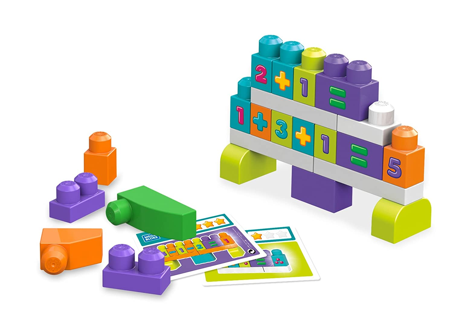 Mega Bloks Building Basics Stack /& Learn Math