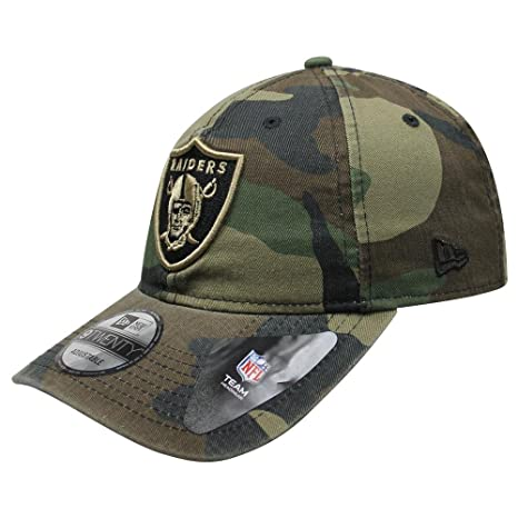81e9c20dc14 Image Unavailable. Image not available for. Color  New Era Authentic  Raiders Memorial Day Woodland Camo 9TWENTY Adjustable Hat