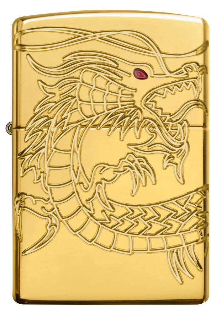 Dragon Armor Heavy Zippo Outdoor Indoor Windproof Lighter Free Custom Personalized Engraved Message Permanent Lifetime Engraving on Backside by Zippo (Image #5)