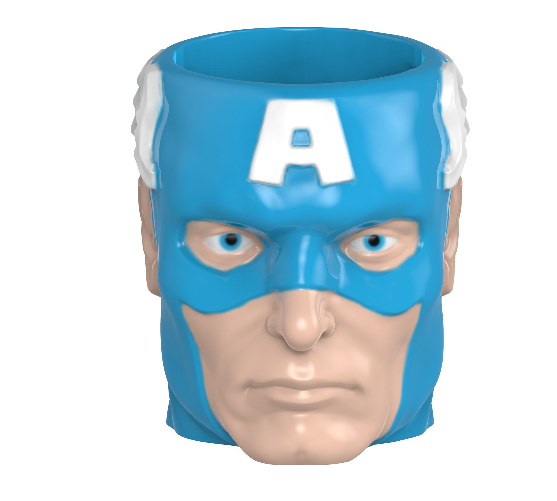Zak Designs MRTI-8513 Marvel Comics Sculpted Ceramic Coffee Cup, Captain America by Zak Designs (Image #1)