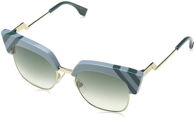 Fendi Damen Sonnenbrille FF 0241/S 9K Mvu, Türkis (Azure/Green Shaded), 50