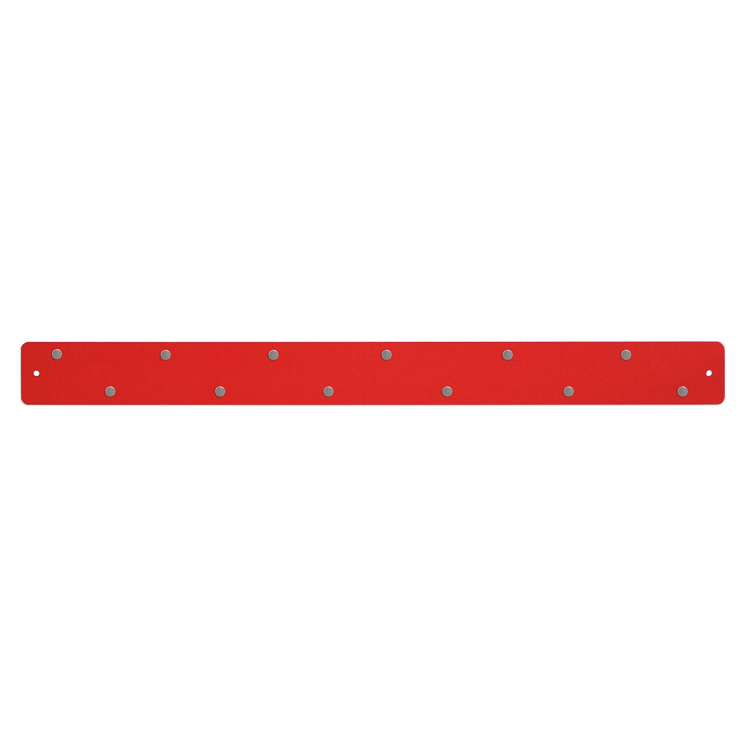 Three By Three Seattle Magnetic Strip Bulletin Board, Red