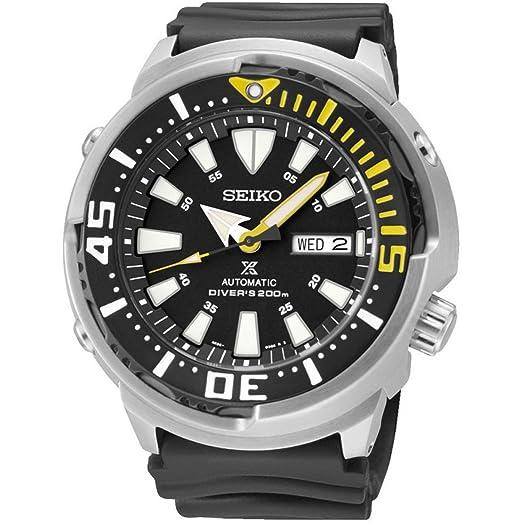 3f3483fca39 Seiko Reloj Analógico para Hombre de Automático con Correa en Caucho  SRP639K1  Amazon.es  Relojes