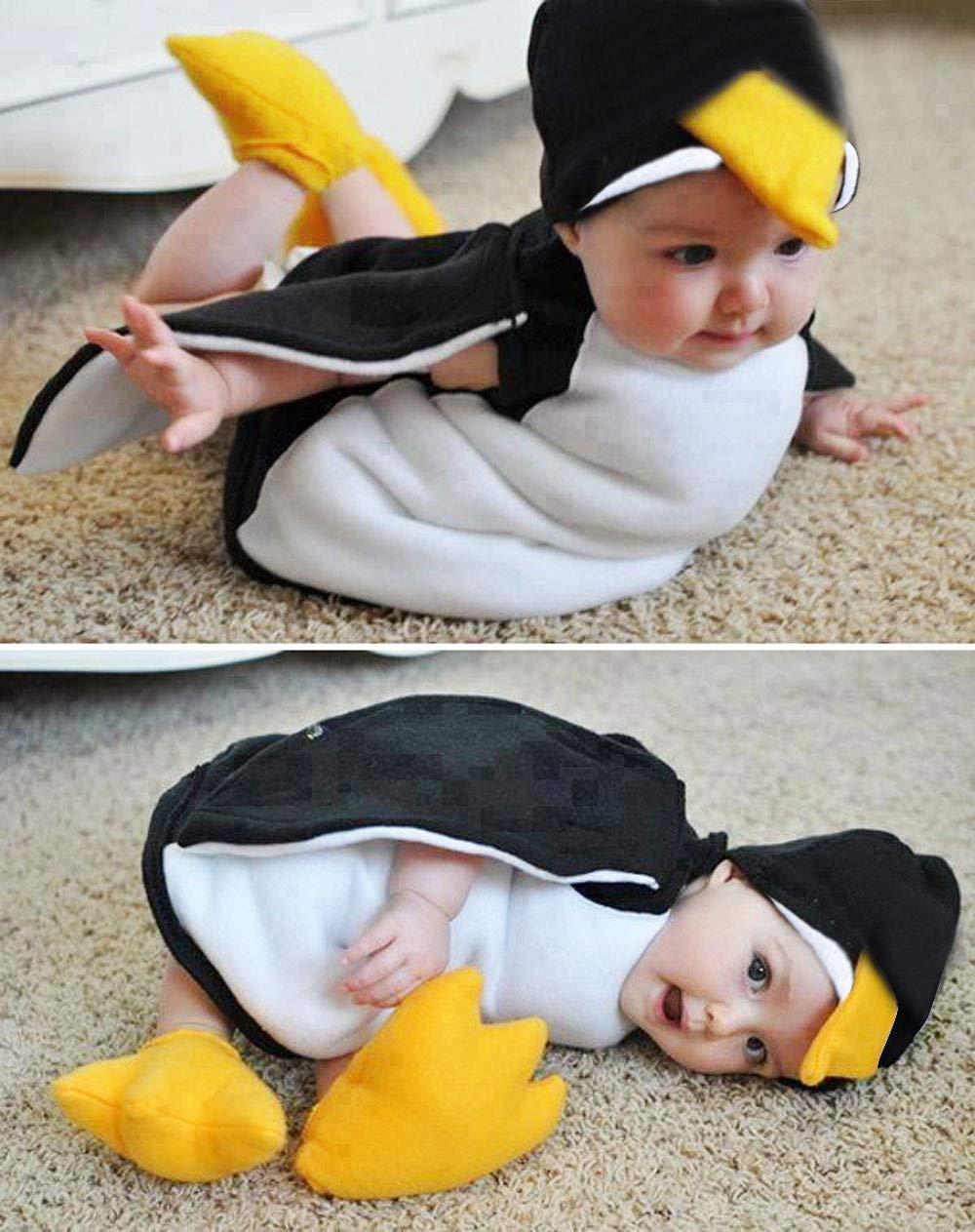 TOOPOOT Baby Newborn Cute Romper,Newborn Infant Baby Boys Girls Cosplay Cartoon Penguin Romper Footwear Outfits