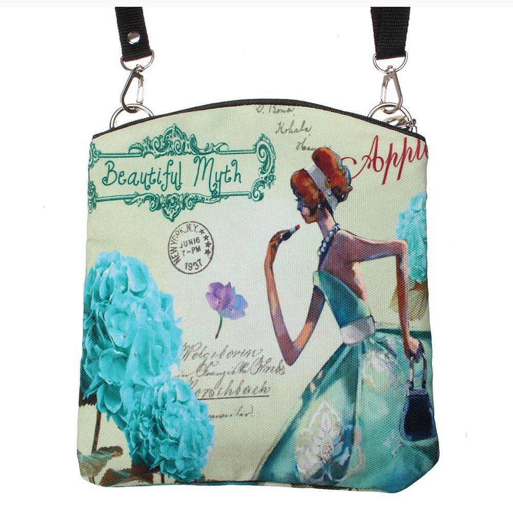 dee404852bd1 Amazon.com   23 canvas bag - SODIAL(R)Women Messenger Bags Vintage Canvas  Printing Small Satchel Shoulder European Style Girls Handbag Lady Crossbody  Bag ...