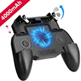 Mobile Game Controller with 4000mAh Power Bank and Cooling Fan, PUBG Mobile Controller Gamepad L1 R1 Aim and Shoot…