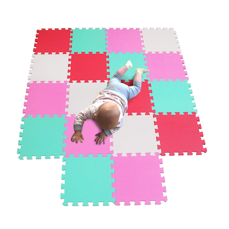 MQIAOHAM Puzzle Alfombrillas Skip Hop Juego Parques Infantiles Bebes Acolchado Manta tapete Zona alfombras Acolchadas Grande Goma eva P011028G3212