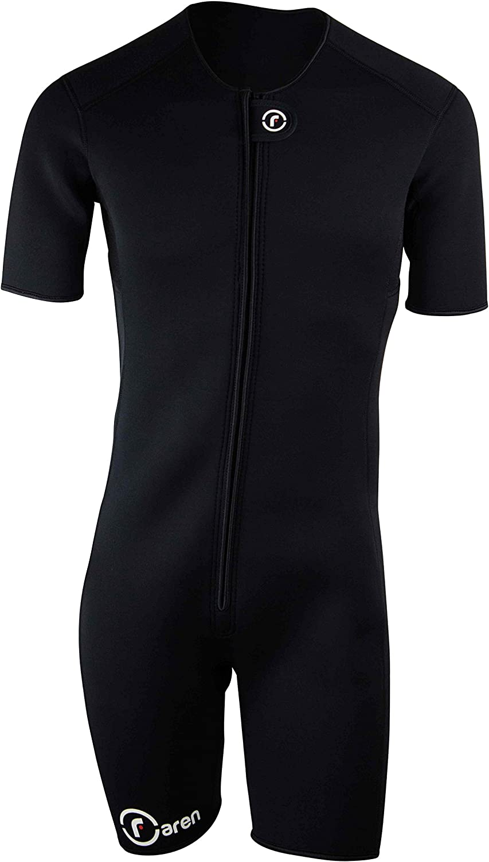 PFlex Men Waist Trainer Vest Complete Weight loss Neoprene and Nylon Workout Shirt Zipper Black Burns Fat Faster
