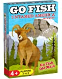 GO FISH Untamed America, a 3-in-1 Classic Card Game for Kids (GO FISH, Old Maid and More), 3 Classic Kids Games in One Beautifully Illustrated Deck Featuring North American Wild Animals