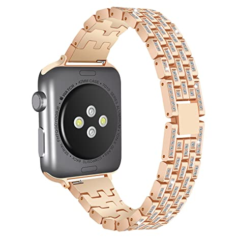 Correa para Apple Watch 38 mm, AnGolf Apple Watch Band 38 mm Acero ...