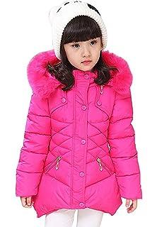 20768080cec9 DNggAND Child Kids Girls Winter Warm Jackets Snowsuit Hooded Windbreaker  Outwear with Soft Fur Hoodies for