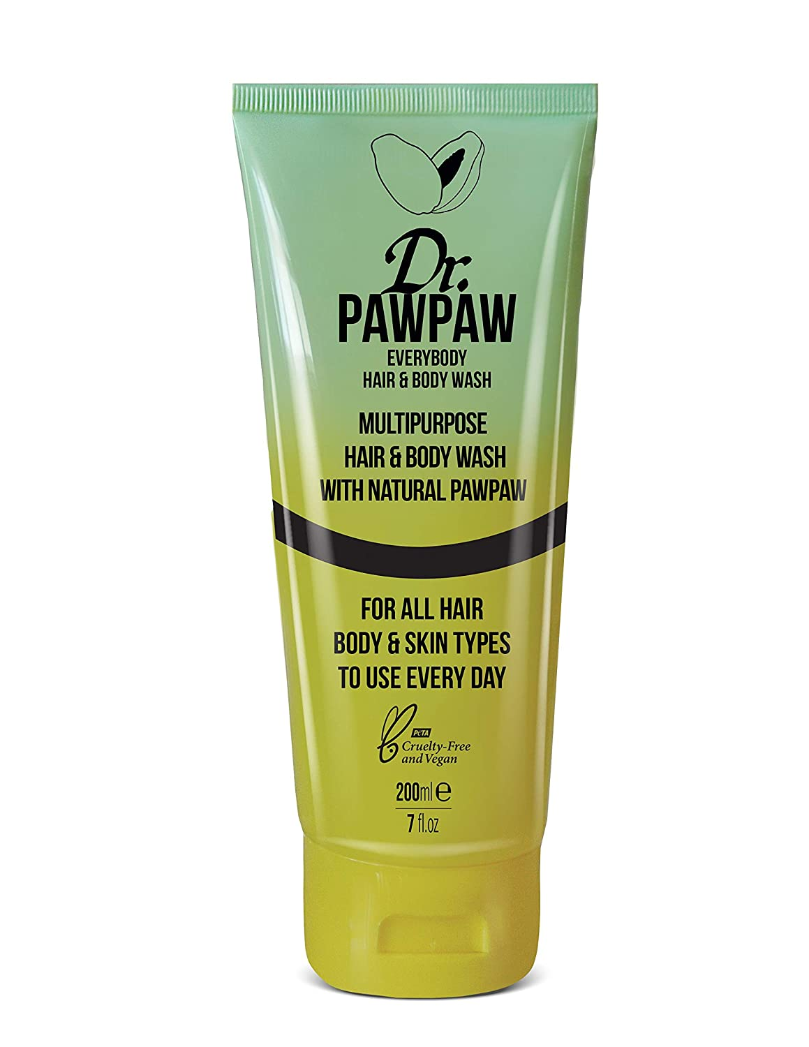 Dr. PAWPAW - Everybody Hair & Body | Multipurpose Hair & Body Cleanse and Condition with Natural PAWPAW | Safe For All Hair, Body & Skin Types (250 ml) (Hair & Body Wash)