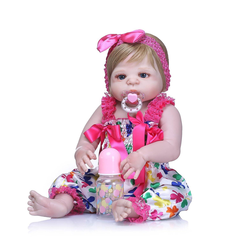 Barato Nicery B70 - Muñeca de bebé de Vinilo de Alta Calidad, 50 – 55 cm, magnética, para Niños y Niñas, Impermeable, con Traje para Acción de Gracias, Color Negro