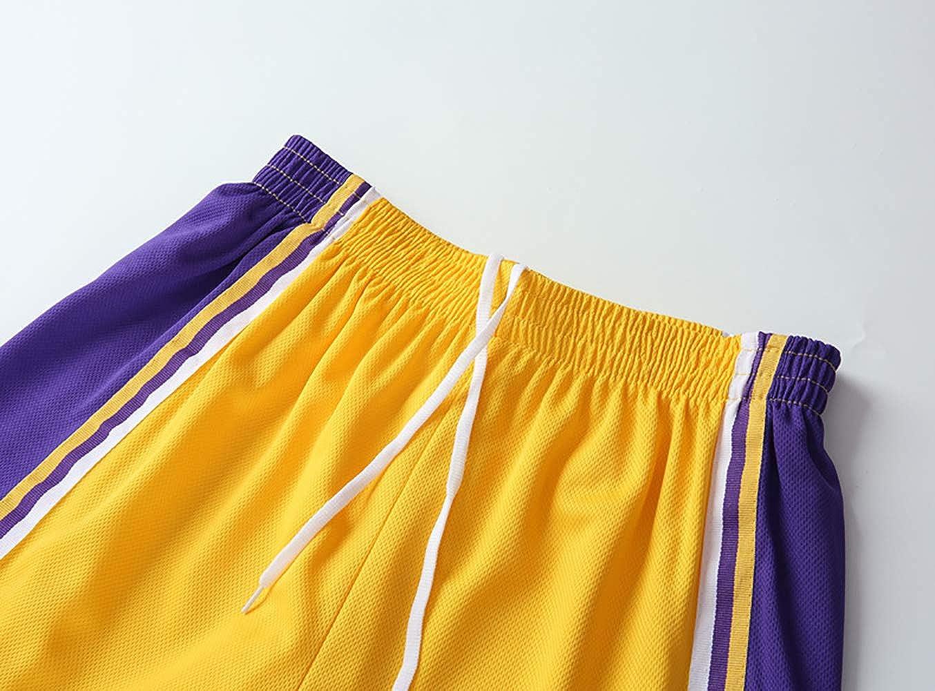 Kurze Hosen Kleidung Set YIAIYW Lakers James No Basketball Sportweste Top 23 Trikot