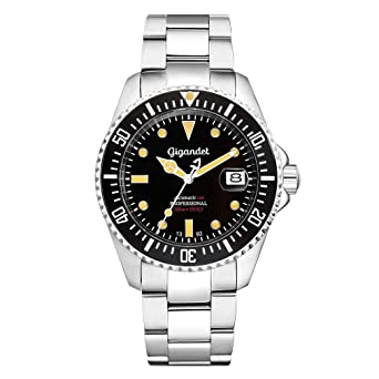 Gigandet Reloj de Hombre Automático Sea Ground Vintage Reloj de Buceo Analógico Correa de Acero Negro Plata G2-007: Gigandet: Amazon.es: Relojes