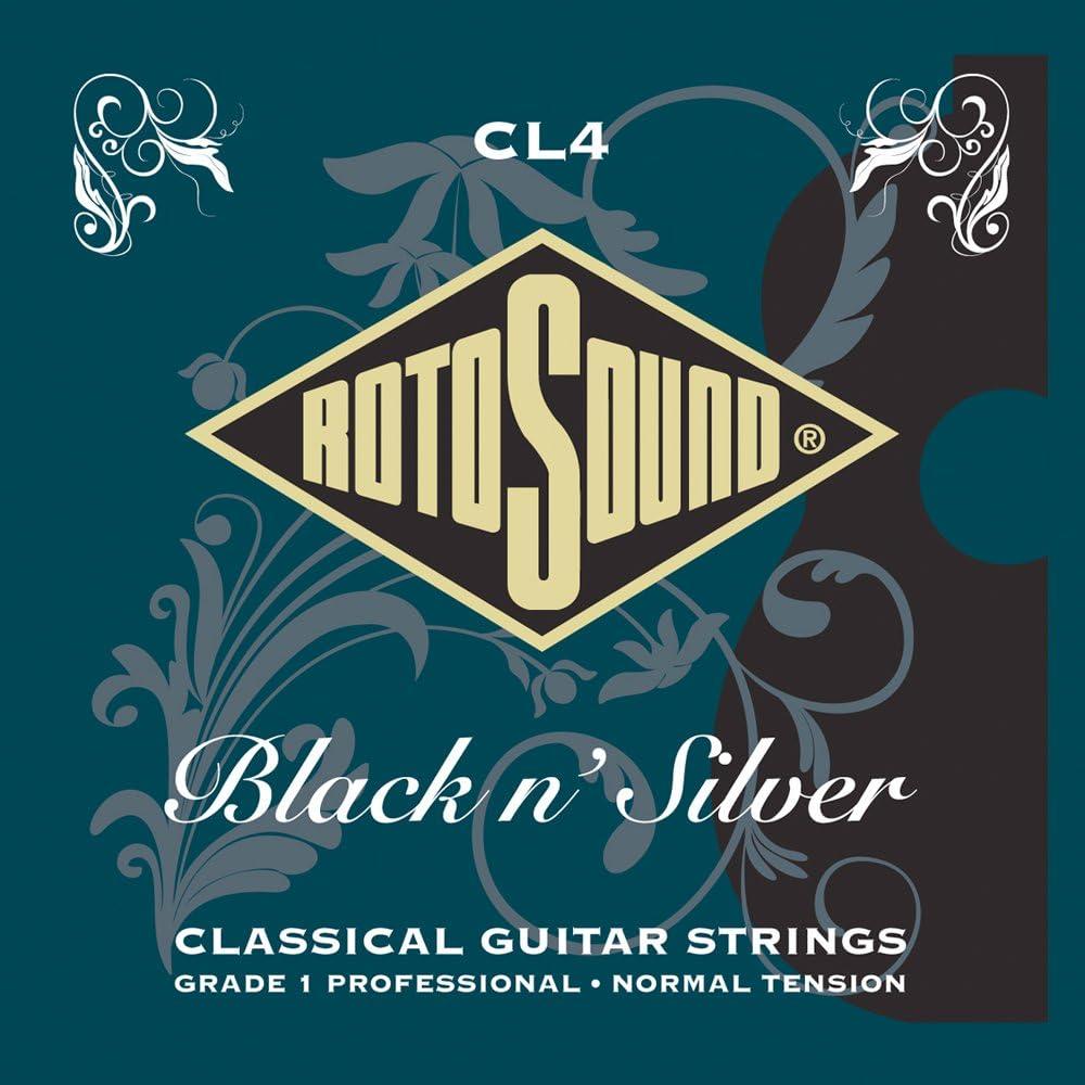 Rotosound CL4 - Juego de cuerdas para guitarra clásica de entorchado plateado