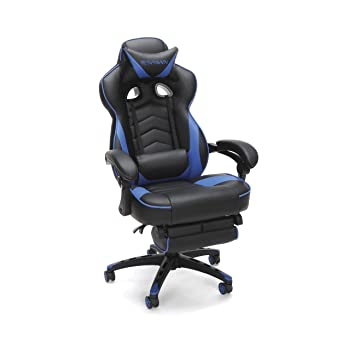 Merveilleux RESPAWN 110 Racing Style Gaming Chair   Reclining Ergonomic Leather Chair  With Footrest, Office