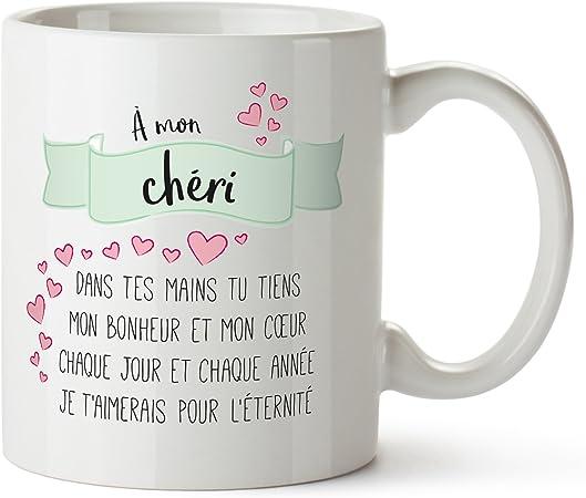 Tasse Romantique Poème Damour à Mon Chéri Standard Tasse à Thé Ou Café Cadeau Danniversaire Anniversaire De Couple Ou De Mariage Saint