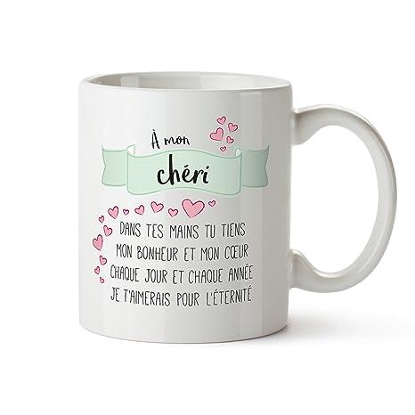 Tasse Romantique Poème Damour à Mon Chéri Standard Tasse à Thé Ou Café Cadeau Danniversaire Anniversaire De Couple Ou De Mariage