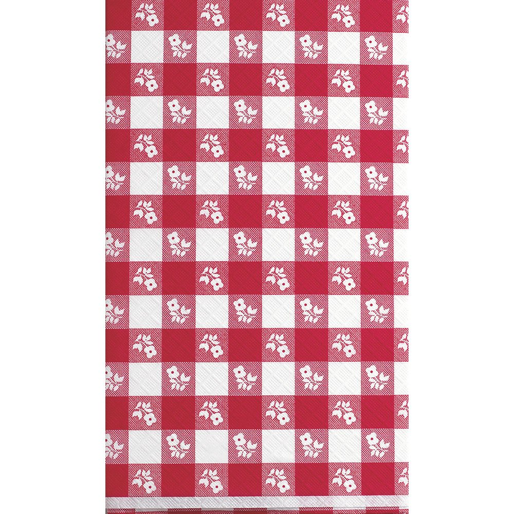 Creative Converting 12-Count Red Gingham Stay Put Plastic Banquet Table Covers by Creative Converting