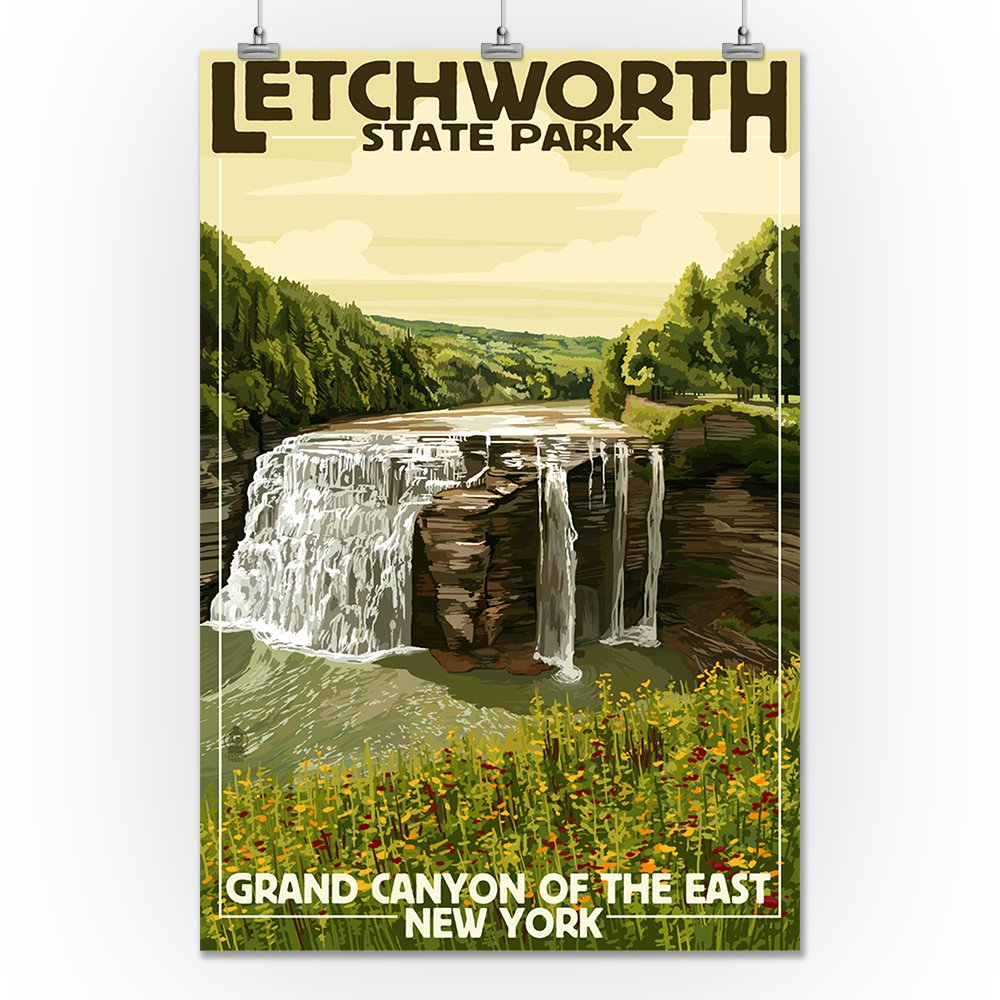 Amazon.com: Letchworth State Park, New York - Middle Falls - Grand ...