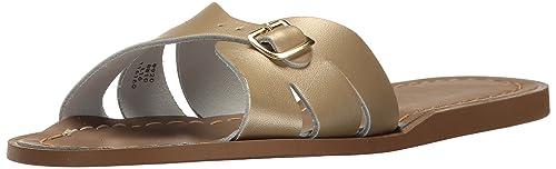 4300410bf87 Salt Water Sandals Hoy Shoe Girls' Salt Water Classic Slide Flat Sandal,  Gold,