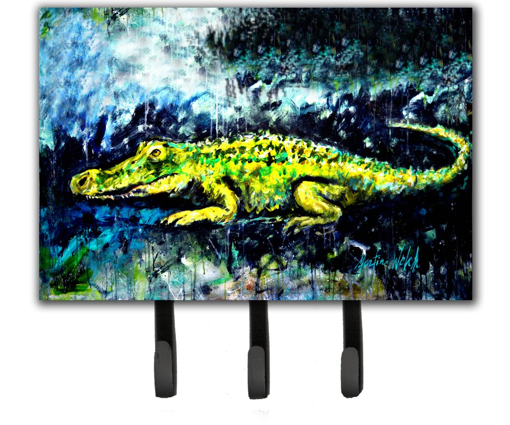 Triple Carolines Treasures Sneaky Alligator Leash or Key Holder MW1233TH68