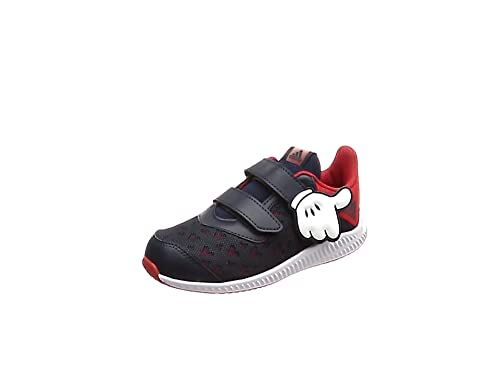 adidas Dy Mickey Fortarun Cloudfoam, Scarpe da Ginnastica Basse Unisex-Bimbi, Rosso (Scarle/Vivred/Ftwwht Scarle/Vivred/Ftwwht), 21 EU