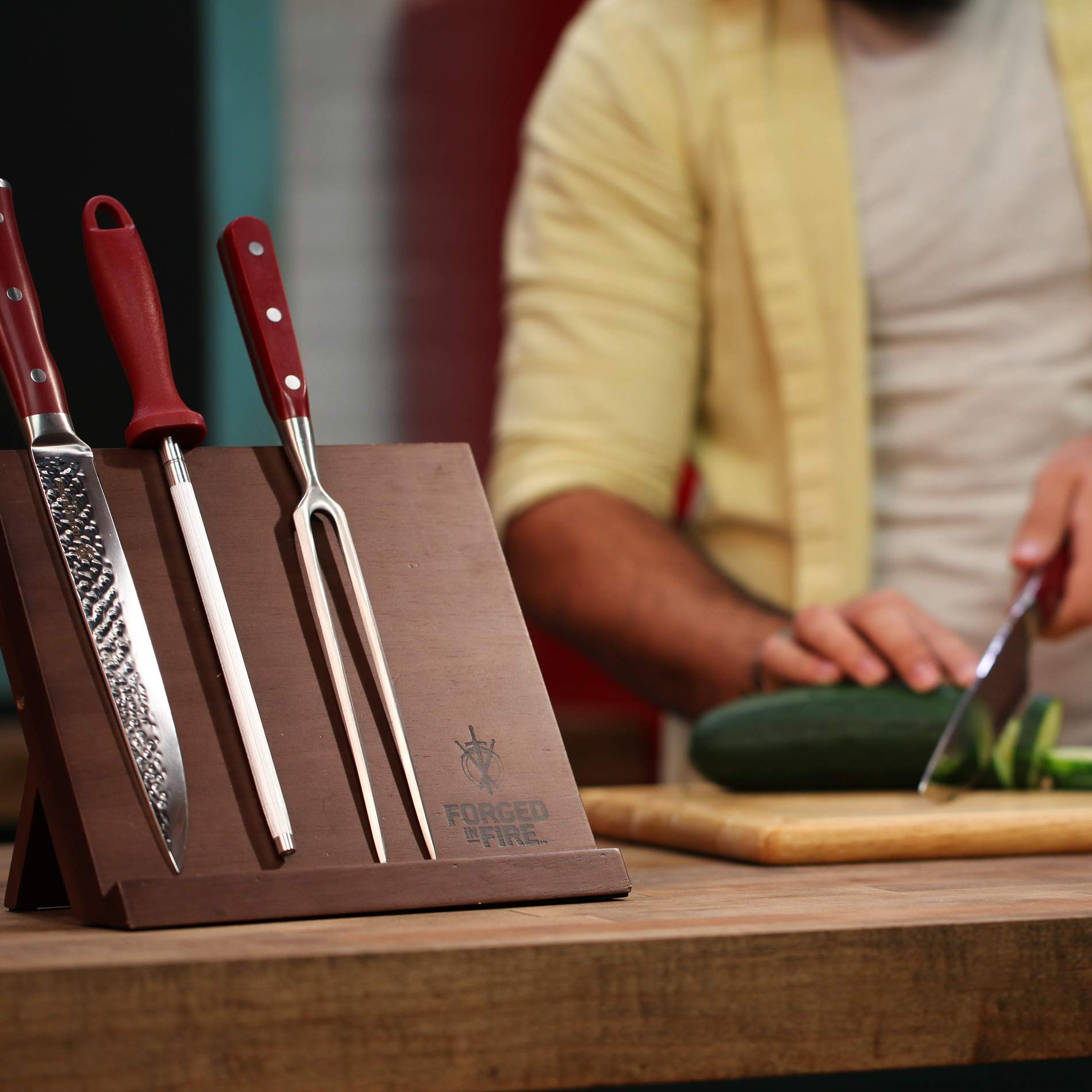 HISTORY - Forged in Fire - Magnetic Knife Block - Natural Wood, Space Saver by Forged in Fire (Image #4)