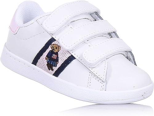 Polo Ralph Lauren - Zapatos de Cordones para niño Blanco Size ...