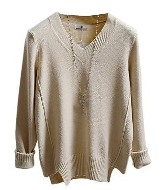 Bigood V-Kragen Muster Damen Warm Winter Strickjacke Cardigan ...