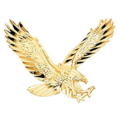 Gm fine jewelry collection 14k yellow gold eagle pendant amazon gm fine jewelry collection 14k yellow gold eagle pendant aloadofball Choice Image