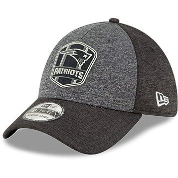 c7ad1729 New Era 39Thirty Cap - Black Sideline New England Patriots: Amazon ...