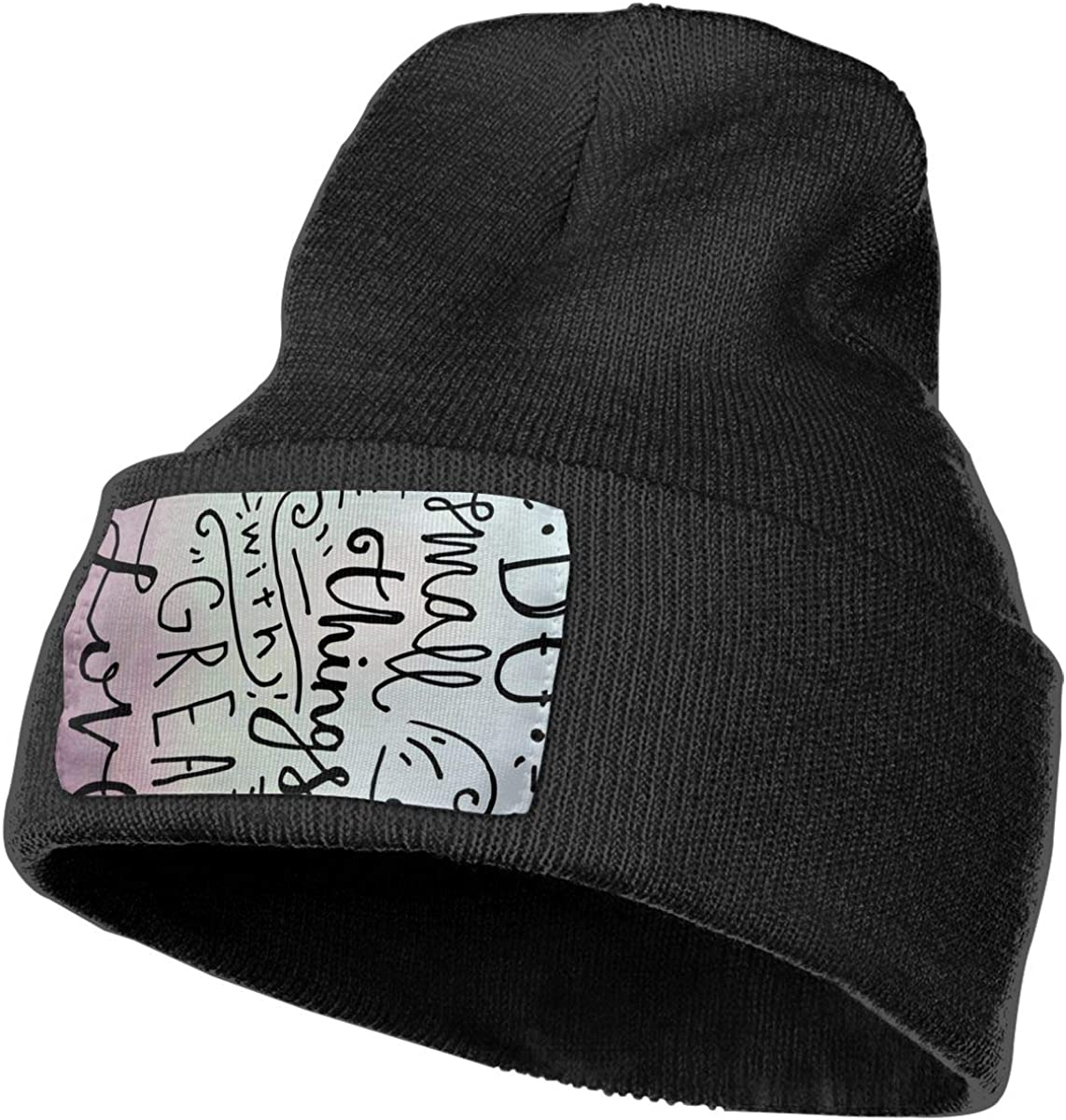 Do Small Things with Great Love Unisex Fashion Knitted Hat Luxury Hip-Hop Cap