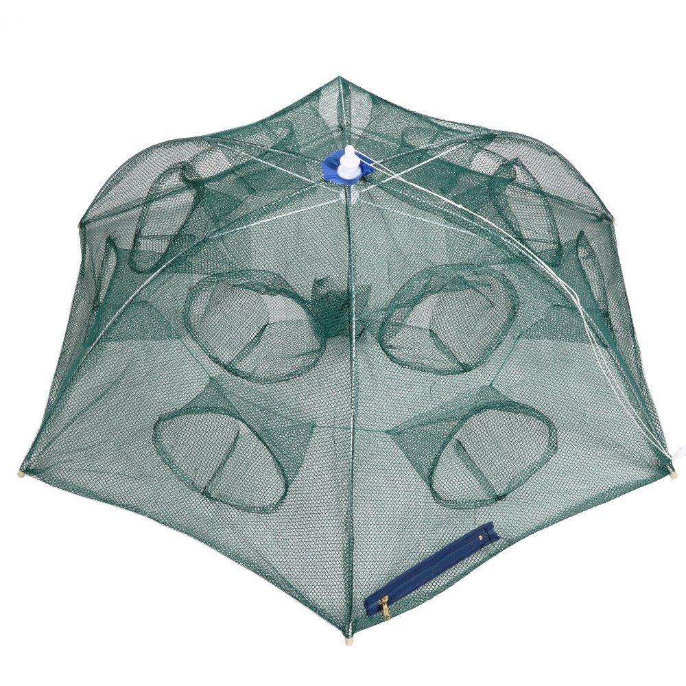 (Automatic 6 sides 12 Holes) - Goture Portable Folded Fishing Net Fish Shrimp Minnow Crayfish Crab Baits Cast Mesh Trap automatic   B074M7VSMG