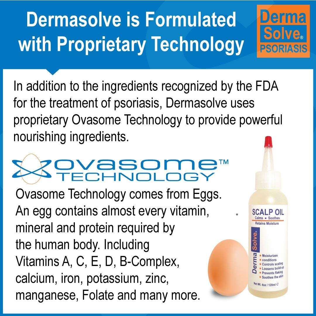 Dermasolve Psoriasis Scalp Oil 2-Pack Forumlated to Loosen Scaling Build-up, Moisturize, Condition, Prevent Itching, Flaking and Soothe the Scalp. 4.0 oz per bottle