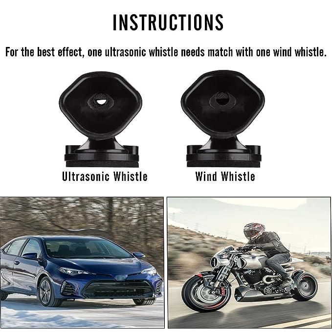 Lot de 8 sifflets anti-cerf pour voitures et motos