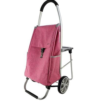 GY Carretilla portátil ~ Con el taburete del asiento Carro de la compra Viejo Hombre Comprar